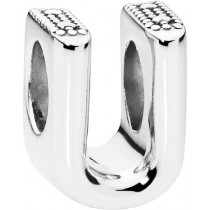 PANDORA Charms 797475 Alphabet Buchstabe U Silber 925