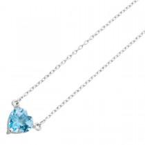 Silberkette 925 Blautopas Herz