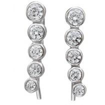 Ohrringe - Fake Piercing Sterling Silber 925 Zirkonia