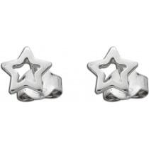 Stern-Ohrstecker aus poliertem Sterling Silber 925