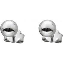 Kugel-Ohrstecker aus poliertem Sterlingsilber Ø 6mm