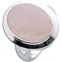 Rosenquarzring - Silberring Sterling Silber 925 poliert