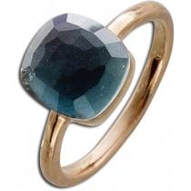 Ring in Silber  - Sterling Silber rosévergoldet Perlmutt Zirkonia