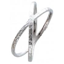 X Ring  Sterling Silber 925 poliert