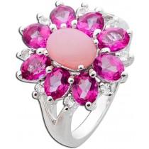 Ring Sterling Silber 925 pink Opal pink Topase weisse Topase Edelsteine_1
