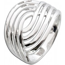 Ring Sterling Silber  925 4-reihige Optik