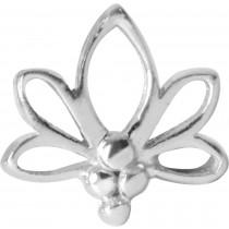 Medusa Piercing Bioplast Sterling Silber 925 Aufsatz Labret Lotus silberfarben