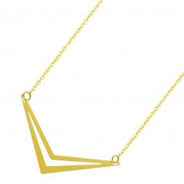 UNO A ERRE Gold Collier Anhänger Doppelspitze Gelbgold 375 Damenschmuck
