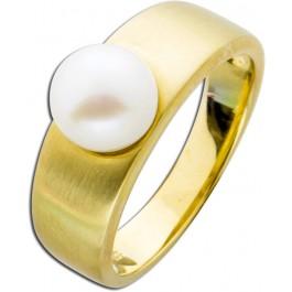 Ring Gelbgold 333 Süßwasserzuchtperle