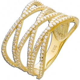 Ring  X-Ring Gelbgold 333 Zirkonia