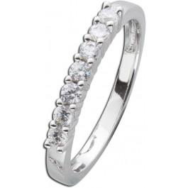 Diamant Vorsteckring Weissgold 585  Brillant 0,42ct W/SI2 Memoire Ring