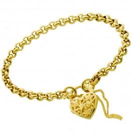Herzarmband UNO A ERRE Erbskette Gelbgold 375 Damenschmuck