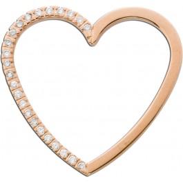Herzanhänger Roségold 585 Brillanten 0,50ct TW/SI Diamantanhänger