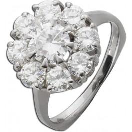 Brillantring Diamanten zus. 2,35ct TW+ - TW / VVS IGI Zertifizikat Weißgold 750