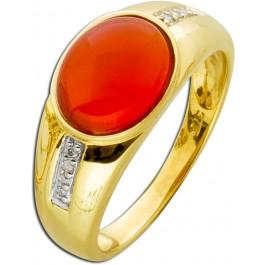 Edler Bandring Gelbgold 375 Carneol Cabochon
