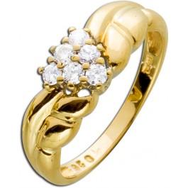 Moderner Ring Gold 585 Brillanten Krappenfassung Brillantschmuck Einzelstück