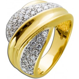 Brillantring Gold 585 Diamanten Brillanten Ring Weißgold Pavéfassung