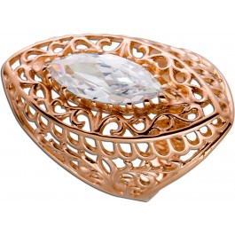 Ring Antik Rotgold 585 Rosegold Navette Stein weiß Sowjetunion Goldring