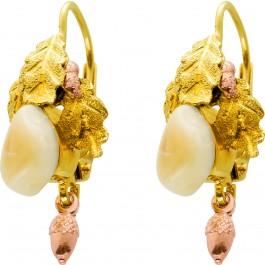 Antike Grandel Brisur Ohrhänger Gelbgold 585 Einzelstück Um 1930 TOP Zustand