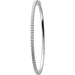 Tiffany & Co. Brillant Armreif Weissgold 750 Brillanten TW/IF Zus. 0,73 Carat Micro Kollektion GRP08599 Original