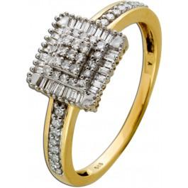 Exklusiver Brillant Diamant Ring Gelbgold 585 TW/SI 1,07 Carat