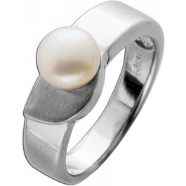 Perlenring Japanische Biwaperle Weissgold 9Karat Unikat feine Goldschmiedeaebeit