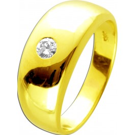 Solitärring 0,15ctW/J1 Diamant Gelbgold 585 14 Karat Brillantschliff  Brillantring