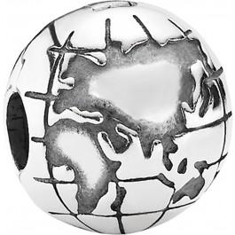 PANDORA Clip 791182 Weltkugel 925er Sterling Silber