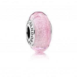 PANDORA SALE Charms 791650 Murano Glas Schillernd rosa Facetten