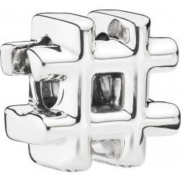 PANDORA Charm 798128 Hashtag Symbol Sterling Silber