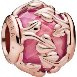 PANDORA Charm Rose 788238SSP Pink Decorative Leaves