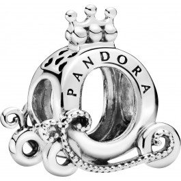 PANDORA Charm 798323 Polished Crown O Carriage Sterling Silber Kutsche