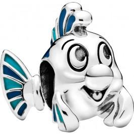 PANDORA DISNEY Charm 798230ENMX The Little Mermaid Flounder Sterling Silber Emaille