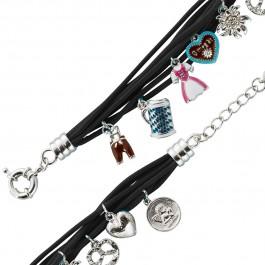 Trachtenschmuck - Trachtenkette/ Trachtenarmband Metall schwarz