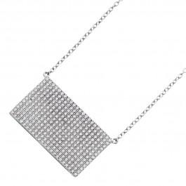 Kette Halskette Sterling Silber 925 Platte Zirkonia 286