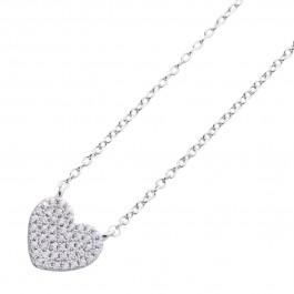 Herzkette Ankerkette Silber 925 Herz Anhänger Zirkonia