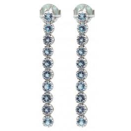 Edelstein blau Ohrringe Silber 925 Ohrhänger Blautopas