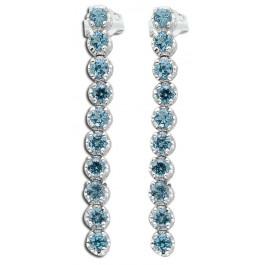Blautopas Ohrhänger Sterling Silber 925 blauer Edelstein