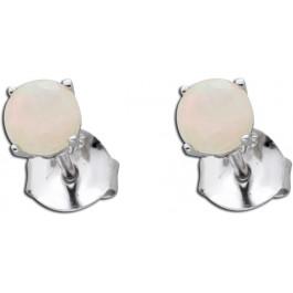 Opal Ohrringe Opal Ohrstecker Silber 925 weiß