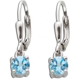 Ohrhänger blau Sterling Silber 925 Blautopas Edelstein