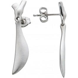 Silberohrringe Ohrstecker Silber 925 designohrschmuck matt 32x6mm