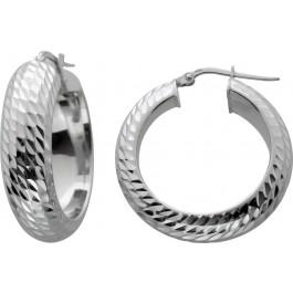 Creolen Ohrringe Silber 925 unebene Oberfläche Lapponia Look Damen