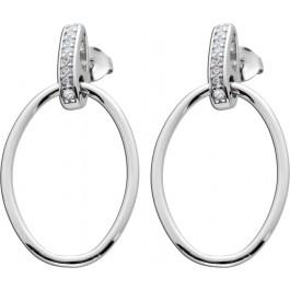 Bewegliche Ohrringe Ohrstecker Silber 925 Zirkonia