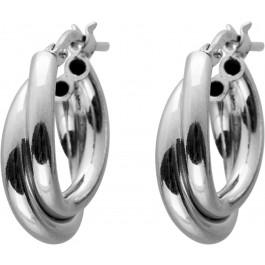 Verspielte Creolen poliertem Silber 925 Ohrringe Damenschmuck