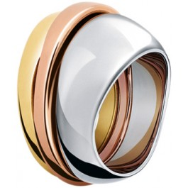 Tricolor Stahlring Ring Rose Silber Gold farben Set 3-teilig Toyo Yamamoto