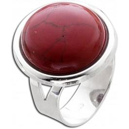 Korallen Ring Rot Silber  925 rekonstruiert