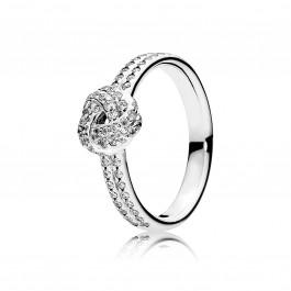 PANDORA SALE - Ring 190997CZ Funkelnder Liebesknoten cubic Zirkonia Silber Sterlinssilber 925/-