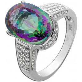 Grüner Silber Ring  925  Topas grün oval