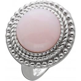Runder Opal Ring pinkfarben Silber 925 Edelsteinschmuck