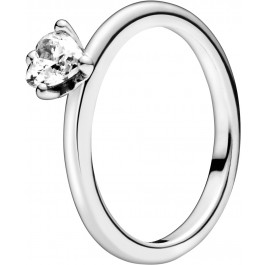 Pandora Ring 198691C01 Clear Heart Solitaire Silber 925 klarer Zirkonia Herz Solitär